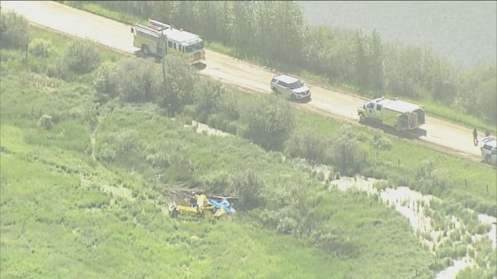 RCMP say three people are dead after a float plane crashed southeast of Edmonton on Friday.