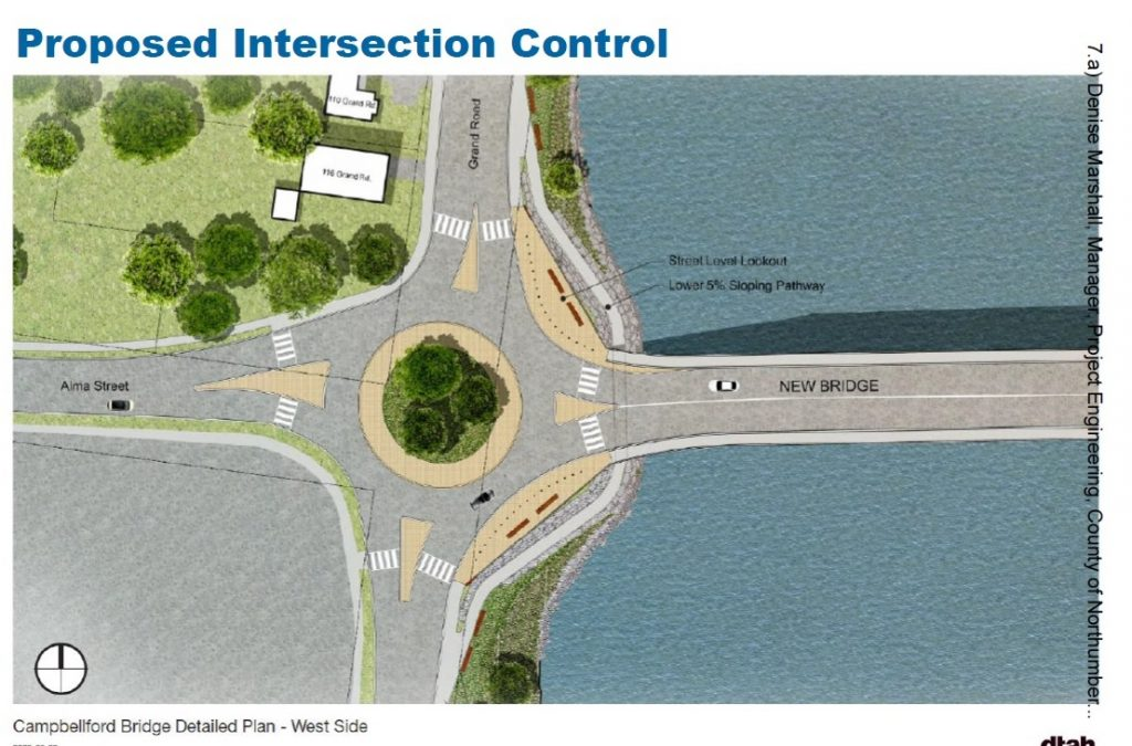 New bridge in Campbellford, Ont. to feature a roundabout.
