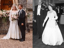 Continue reading: Princess Beatrice wears the Queen's dress, tiara in wedding photos