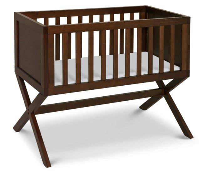According to Health Canada, the mattress support board or the cross bar supporting the mattress support board of the bassinet may become disengaged with an occupant inside, posing a fall or entrapment hazard.