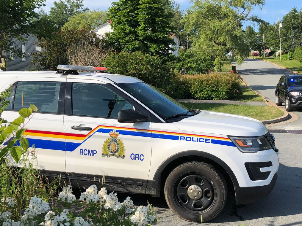Nova Scotia RCMP on the scene at Howard Avenue in Eastern Passage, N.S., on Thursday, July 9, 2020.