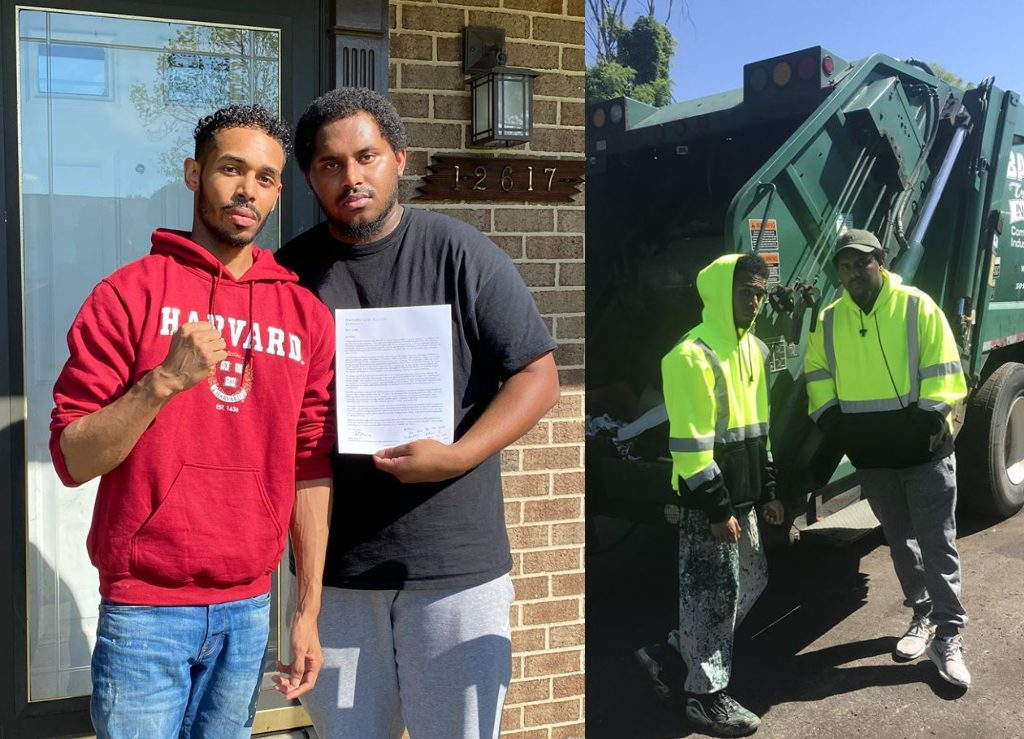 Rehan Staton became a sanitation worker to help his single dad pay the bills. Then, he got into Harvard Law School.