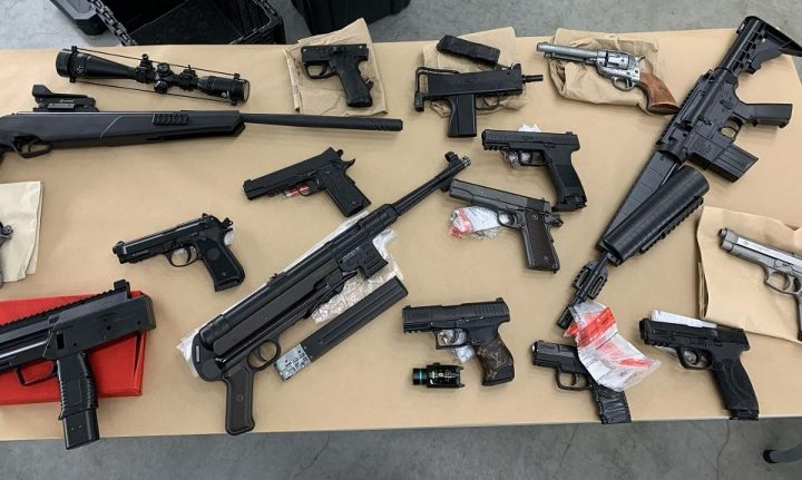 Police says in the first six months of this year they've seen a 107 per cent increase in the number of replica guns, compared to two years ago.