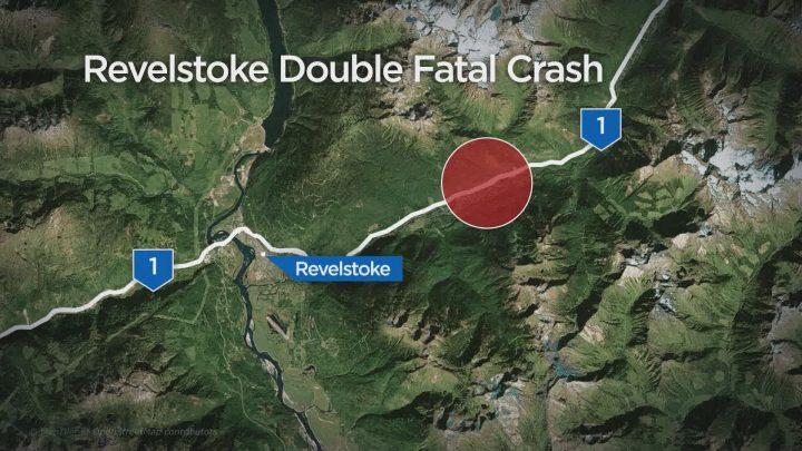 A car crash has killed two men outside of Revelstoke on Sunday.