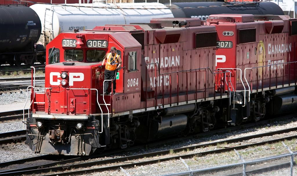 Canadian Pacific Railway locomotives are shuffled around a marshalling yard in Calgary, Wednesday, May 16, 2012.