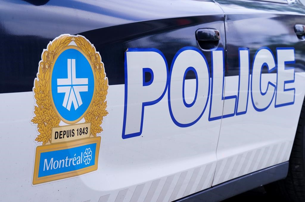 The Montreal Police logo is seen on a police car in Montreal on Wednesday, July 8, 2020.