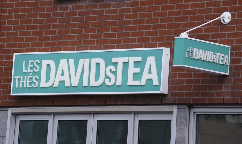 A DavidsTea store is seen in Montreal on Wednesday, July 8, 2020.