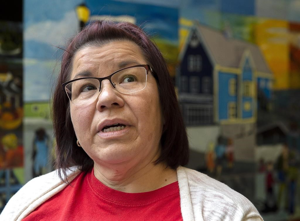 Chief Andrea Paul, of the Pictou Landing First Nation, attends a meeting of stakeholders as they respond to Northern Pulp's Focus Report Tuesday, Nov. 19, 2019.