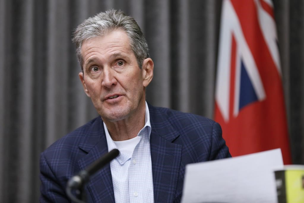 Manitoba Premier Brian Pallister said Thursday his government is looking at adding a roundabout to the intersection of highways 1 and 16, west of Portage la Prairie.