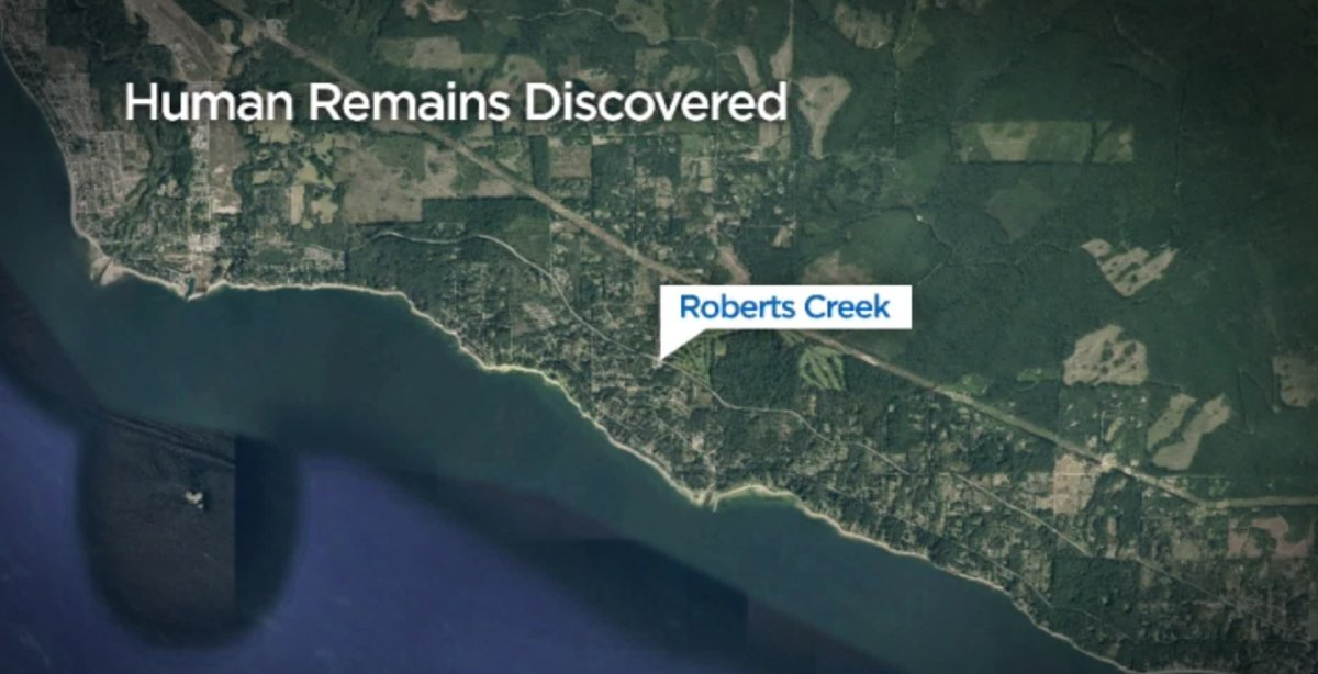 Sunshine Coast RCMP are investigating after human remains were located on a beach in Roberts Creek on Saturday.