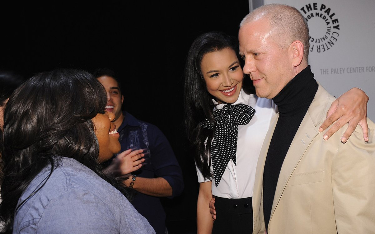 (L-R) Actress Amber Riley, actress Naya Rivera and Executive Producer Ryan Murphy attend the Paley Center for Media's Paleyfest 2011 Event honoring 'Glee' at the Saban Theatre on March 16, 2011 in Beverly Hills, California.