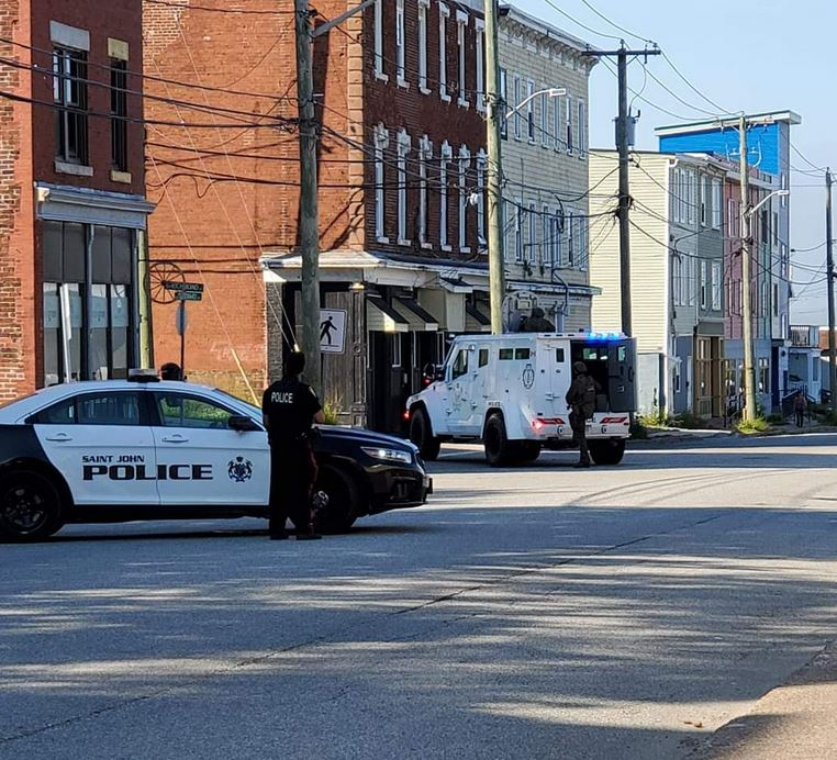 """Police respond to a """"situation"""" in Saint John on Friday, July 10, 2020."""