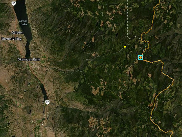The Solco Creek fire was listed at 1.5 hectares in size as of Friday, and is approximately 22 kilometres east of Okanagan Falls.