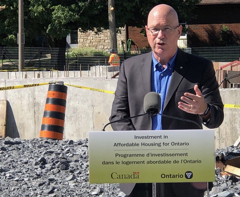 MPP Steve Clark announced over $600,000 in federal and provincial funding for five units of affordable housing in a Kingston apartment development.