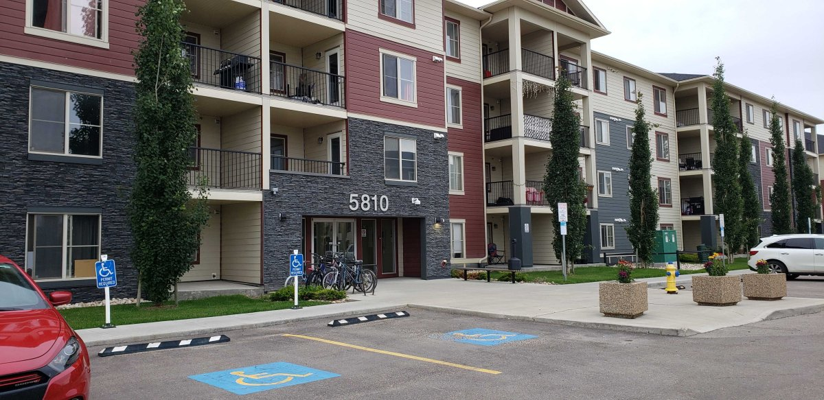 Edmonton homicide detectives are investigating after a woman was found dead under suspicious circumstances in an apartment suite in the southwest end of the city, Saturday, July 11, 2020.