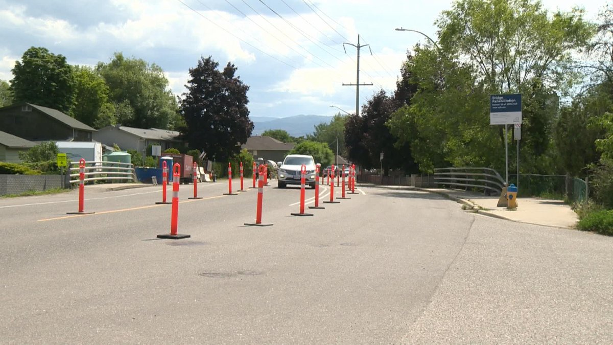 The City of Kelowna is warning drivers there could be intermittent traffic interruptions on the Richter Street bridge over Mill Creek throughout July and August.