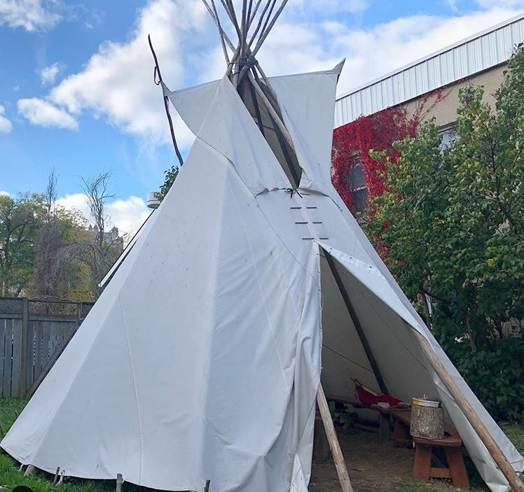 A tipi at the Four Directions Student Indigenous Centre was vandalized last week. This is the second time the centre has been targeted this summer.