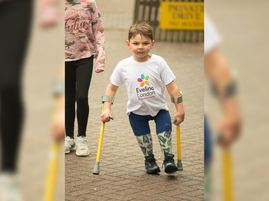 Tony Hudgell, 5, walked every day in June 2020 for a total of 10KM to raise money for the NHS.