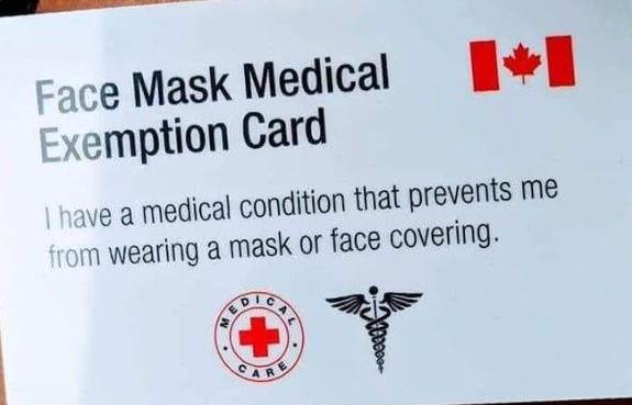 Coronavirus face mask exemption cards are being sold online. Experts say they're fake - image