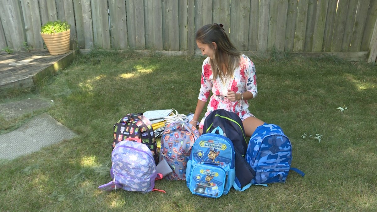 In under two weeks, Katie Onesi has filled over 50 backpacks for families who need them for the coming school year.