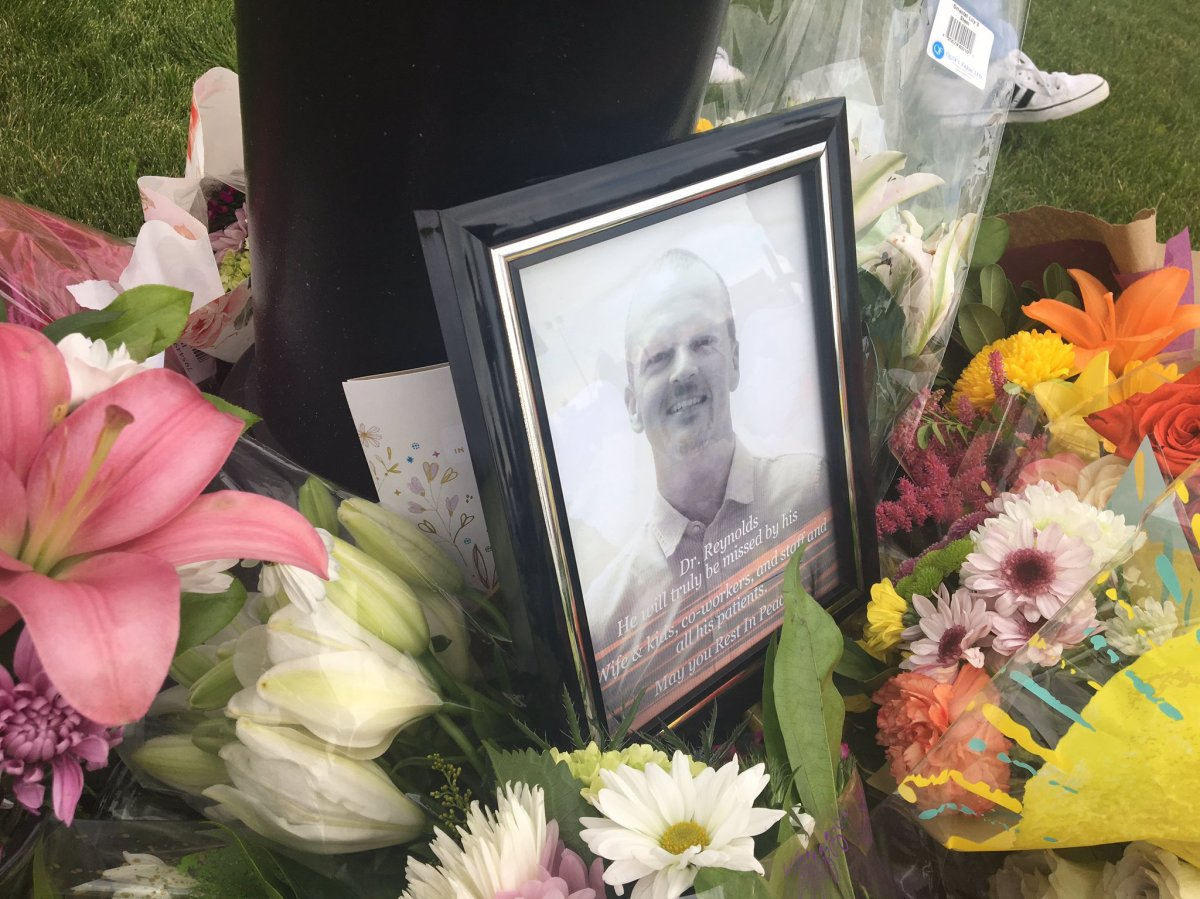 A memorial for Red Deer's Dr. Walter Reynolds. Wednesday, Aug. 12, 2020.
