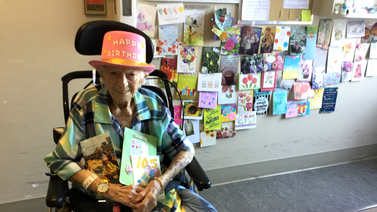 Ann Konkel's campaign to collect 105 birthday cards was a rousing success as the Hamilton native actually received thousands.