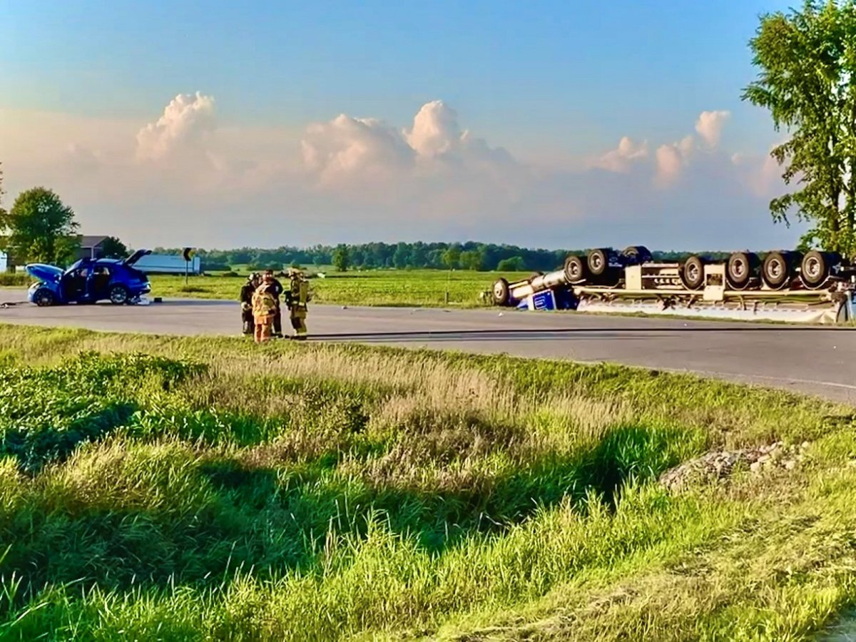 Police say a 55-year-old Calendon woman was pronounced dead at the scene of the August 10, 2020 crash.