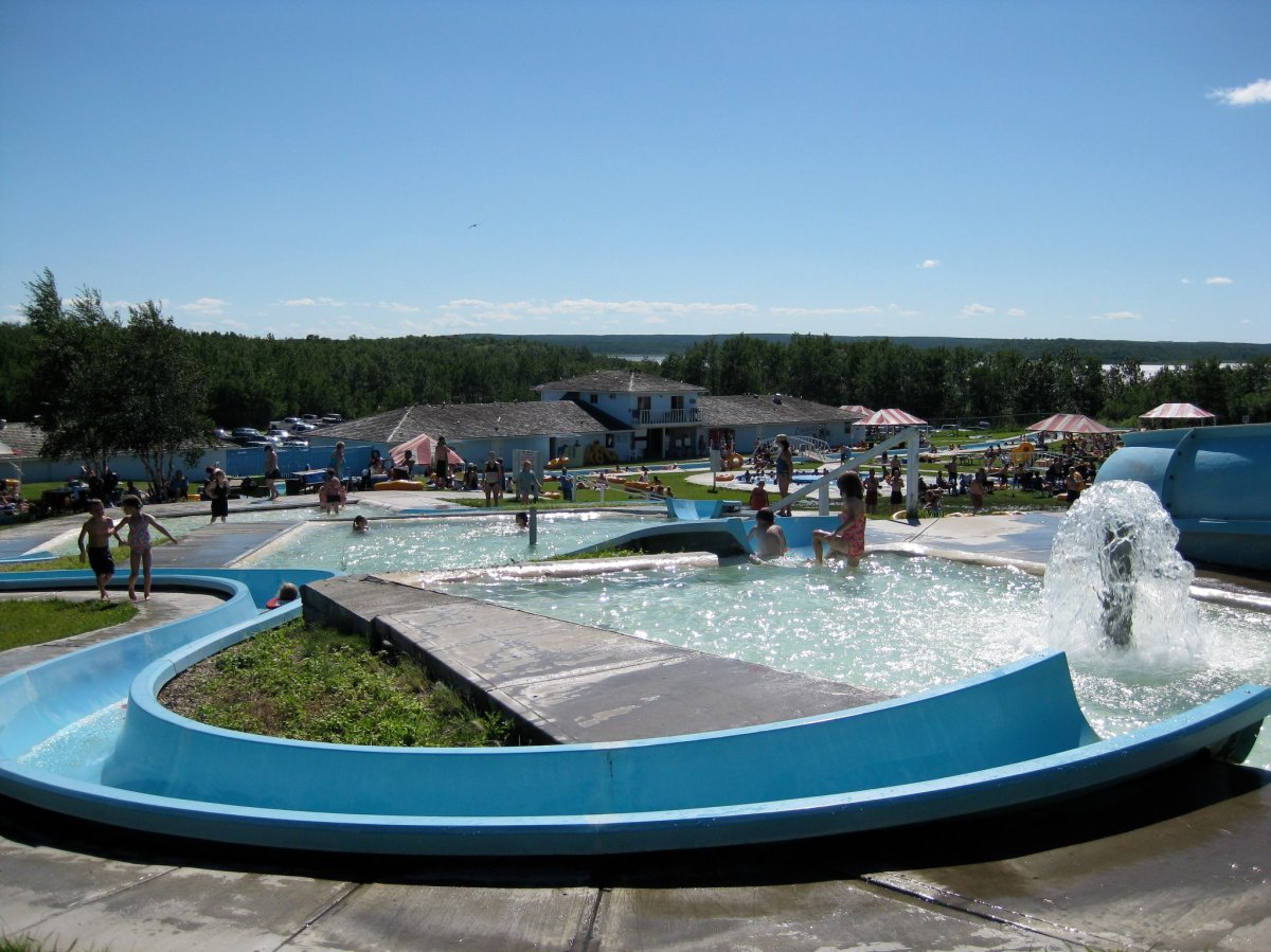The Kenosee Superslides water park in Moose Mountain Provincial Park.