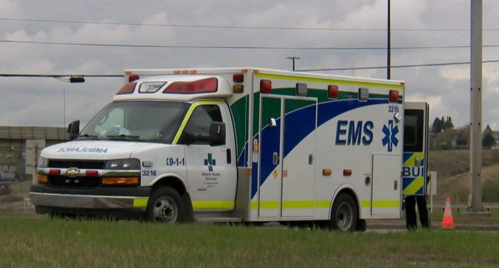 An EMS vehicle in Calgary.