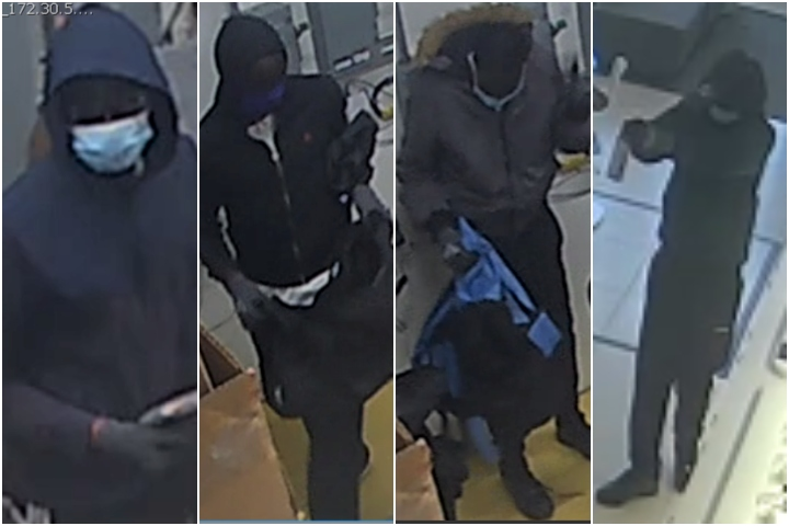 Investigators are looking to speak with anyone who may have cellphone video of the robbery or has information on the identity of the suspects. Anyone with information can call the Calgary Police Service's non-emergency number at 403-266-1234 or contact Crime Stoppers anonymously.