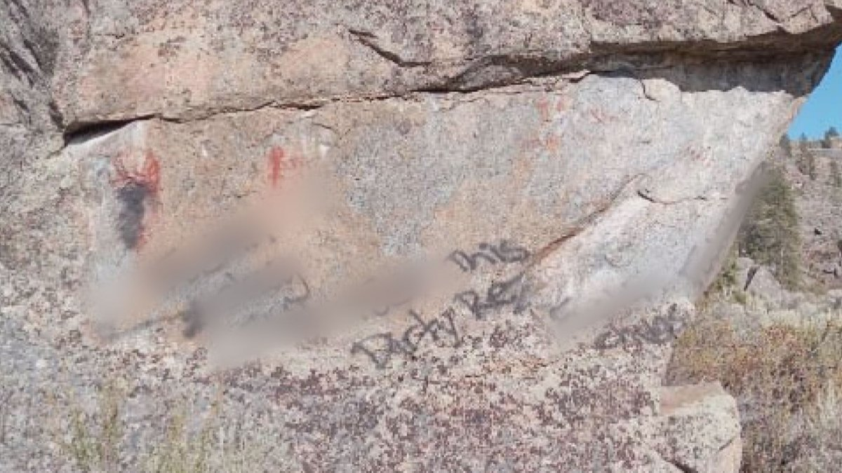 The Chief of the Osoyoos Indian Band (OIB) is denouncing a racist act of vandalism at a sacred site.