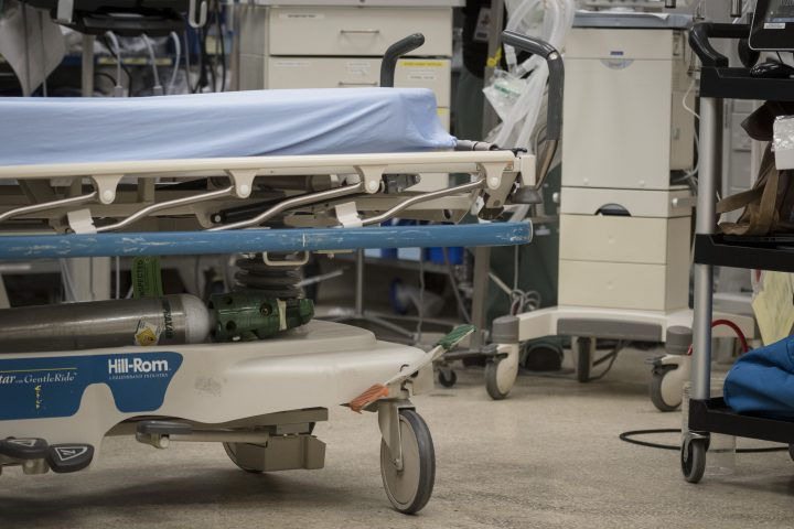 The trauma bay is photographed during simulation training at St. Michael's Hospital in Toronto on Tuesday, August 13, 2019.
