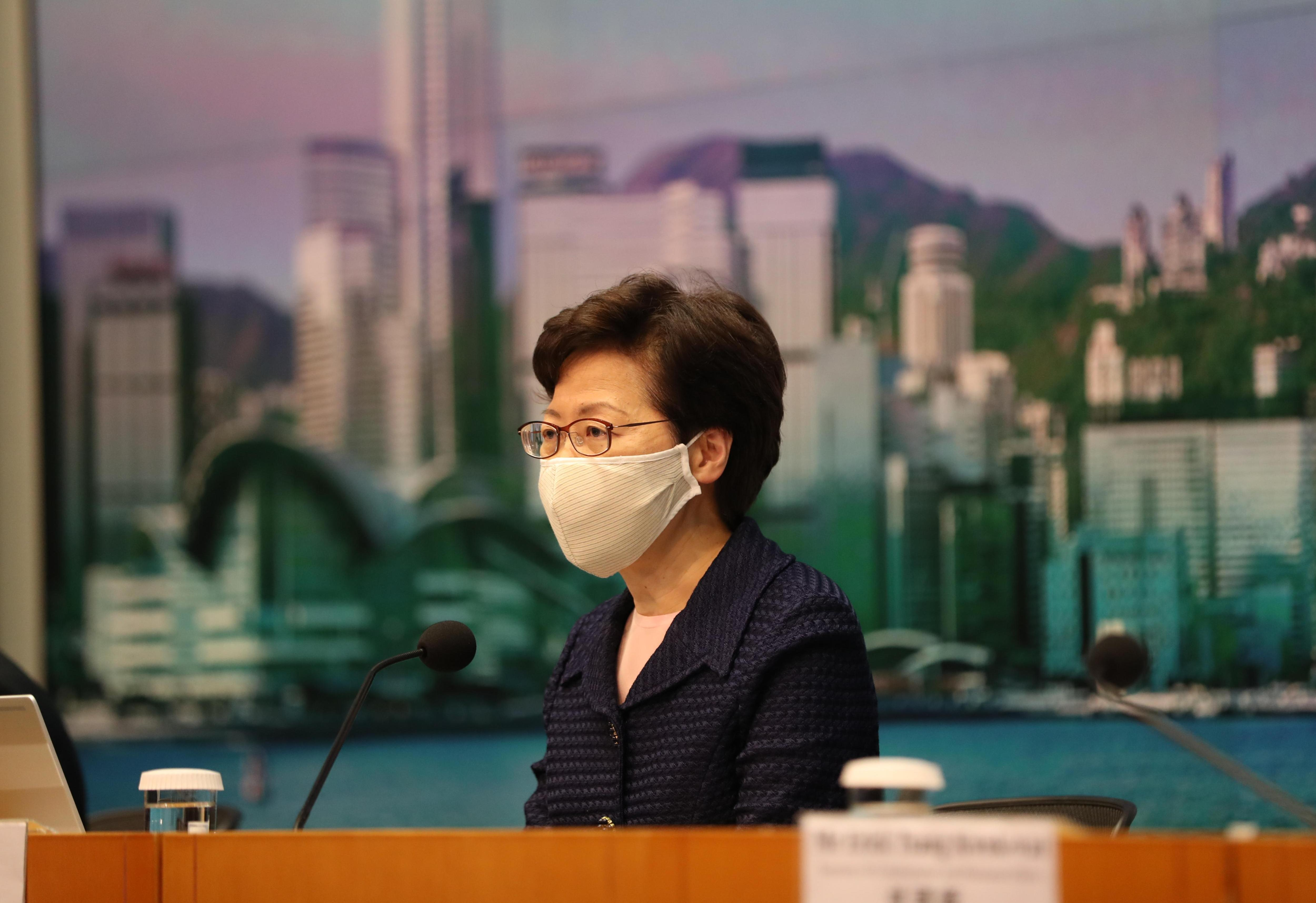 U.S. sanctions Hong Kong officials, including government leader Carrie Lam