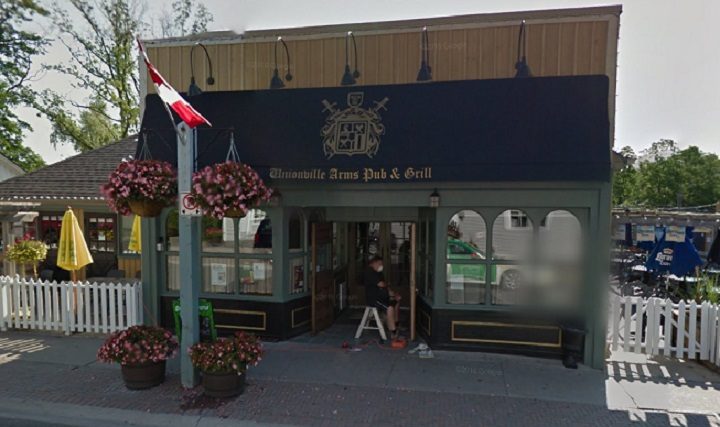 The exterior of the Unionville Arms Pub and Grill in Markham.