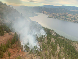 Continue reading: Christie Mountain wildfire: Blaze considered held, but sees small growth on east flank