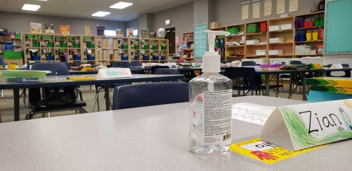 A 2020 file photo taken inside an Edmonton school.