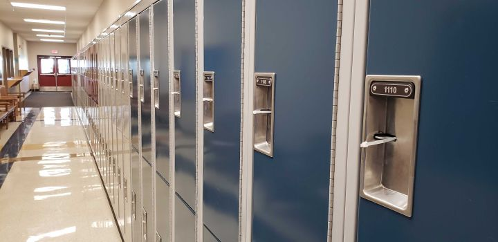 A photo taken inside Sister Annata Brockman Catholic School in Edmonton on Sept. 2, 2020.