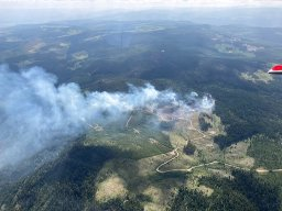 Continue reading: 51 firefighters battling Dry Lake blaze near Princeton