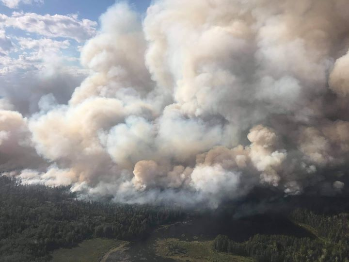 Evacuations are underway as forest fires burn near Eabametoong First Nation and Red Lake in northern Ontario.