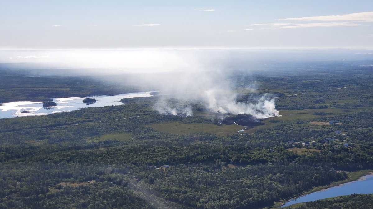 A brush fire in western Nova Scotia has resulted in Environment Canada issuing a special air quality statement for the region.