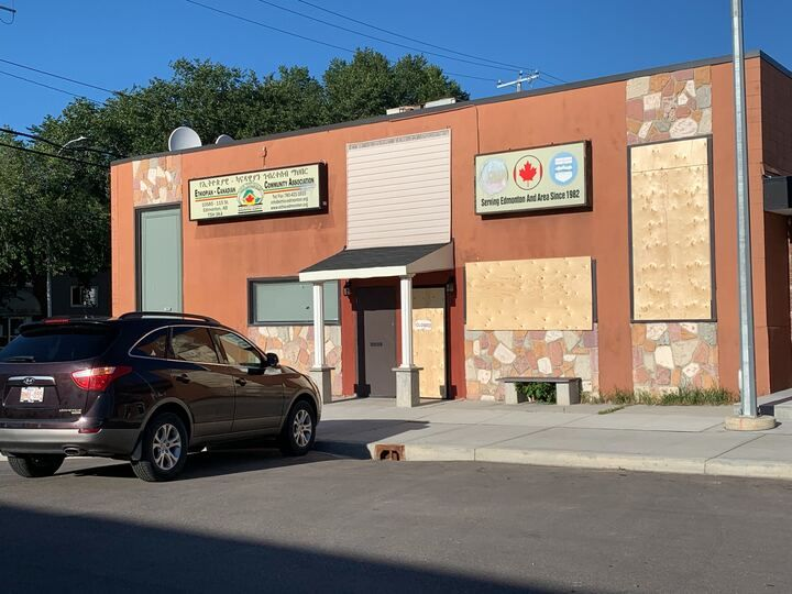 A member of the Ethiopian-Canadian Community Association in Edmonton says she is upset and concerned after vandals recently targeted the organization's building for the second time in just weeks.