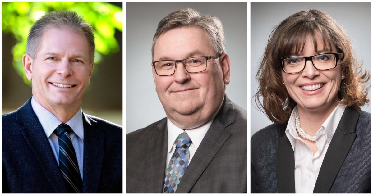 From left to right: Moose Jaw city councilors, Brian Swanson, Scott McMann and Crystal Froese. The three councilors are being sued by a former city employee.