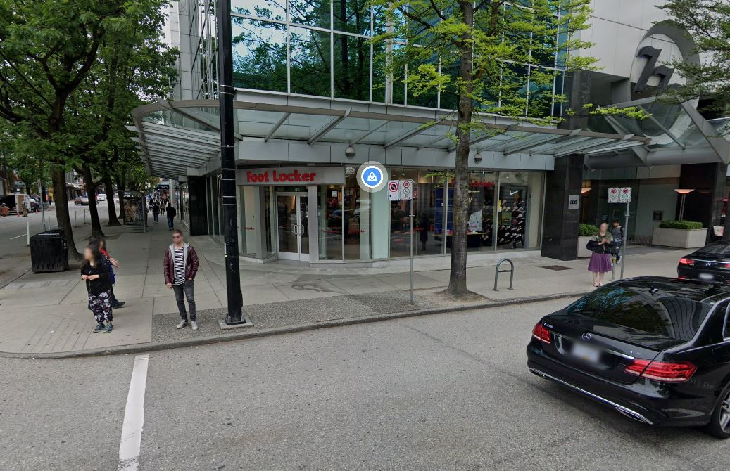 The Foot Locker located at 919 Robson Street in Vancouver.