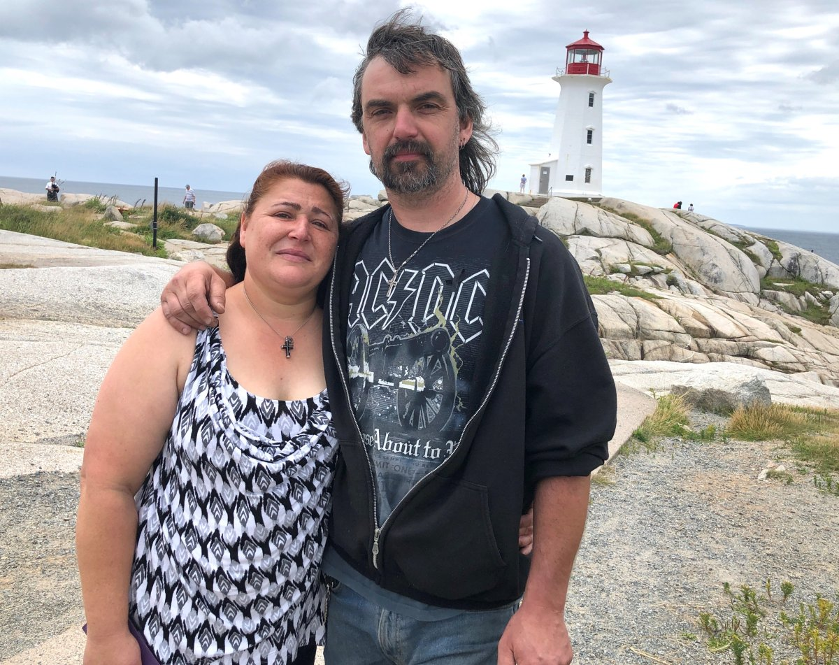 Hundreds take part in ride to Peggy's Cove to honour the victims of the Nova Scotia mass shooting.