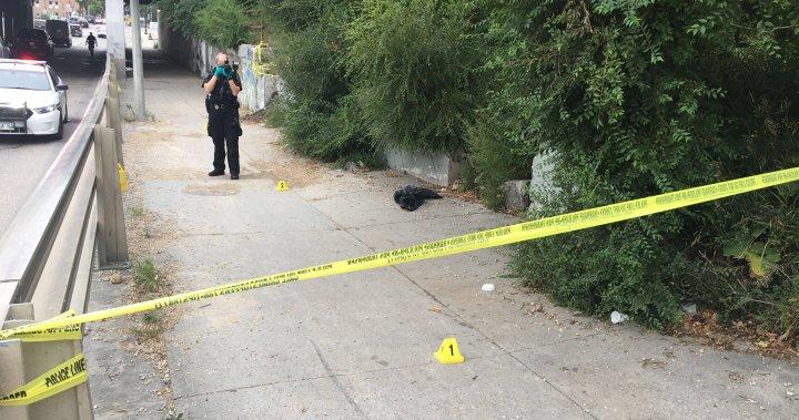 Winnipeg police investigate incident on Main Street underpass sidewalk