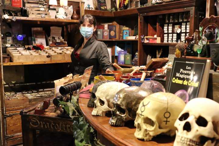 Dracolite co-owner and designer, Véronique Lortie, stands at her favorite section of the shop on Tuesday, Aug. 11, 2020.