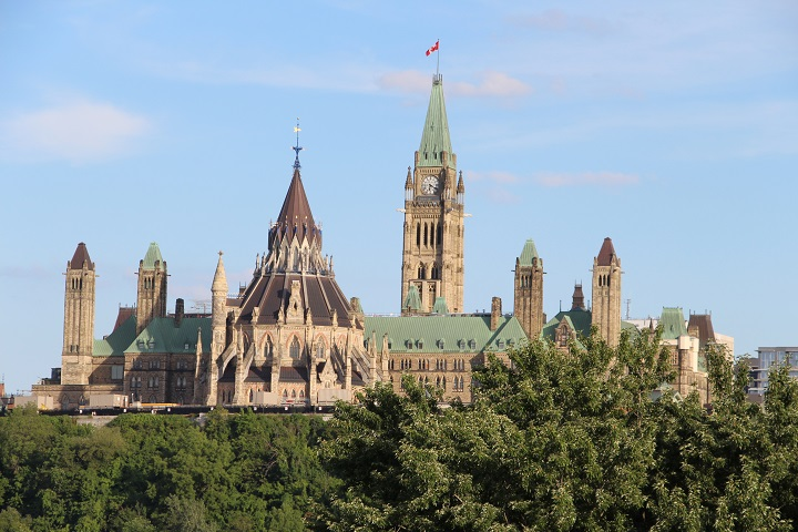 Parliament Hill in Ottawa.