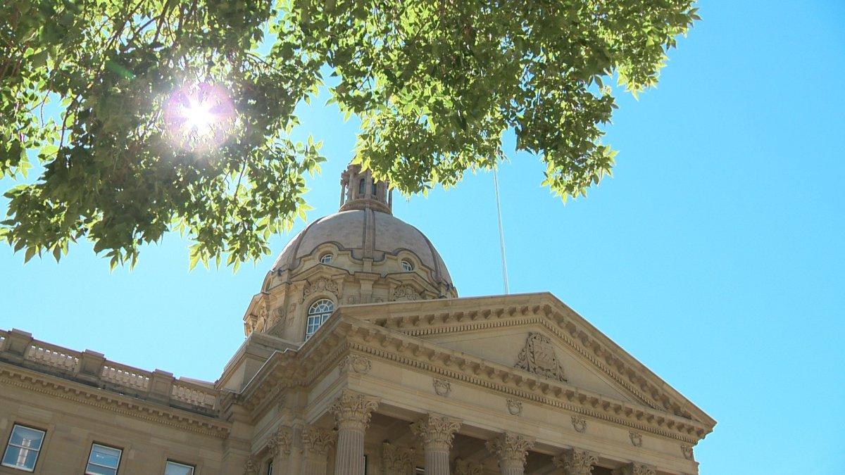 The Alberta Legislature on Aug. 26, 2020.