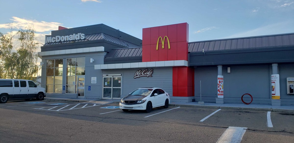 The Edmonton McDonald's on 38 Avenue and 34 Street has closed after an employee has reportedly tested positive for COVID-19, Aug. 21, 2020.