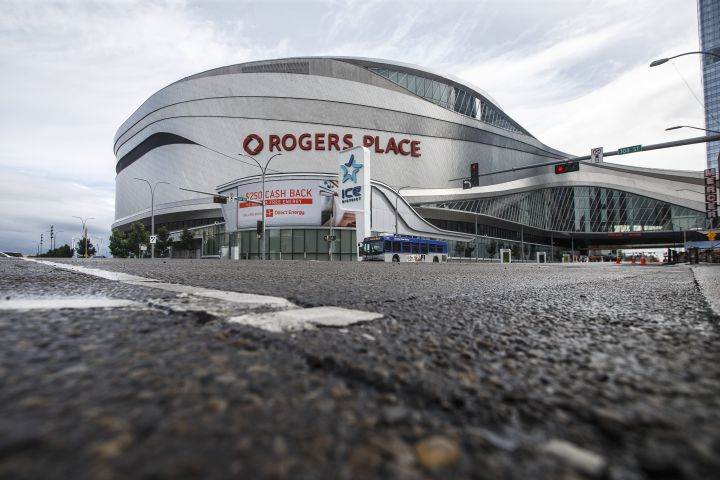Home of the Edmonton Oilers, Rogers Place arena in Edmonton, Alta., on Thursday July 2, 2020.